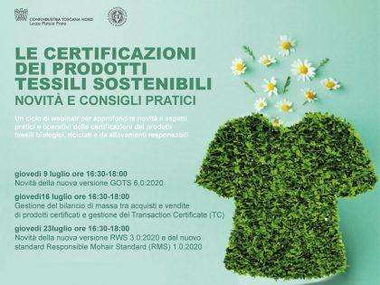 Le Certificazioni dei Prodotti Tessili Sostenibili