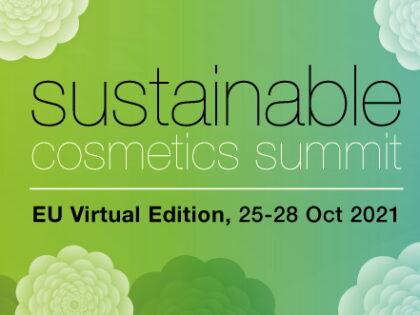 Sustainable Cosmetics Summit: virtual summit on 25-28th October 2021