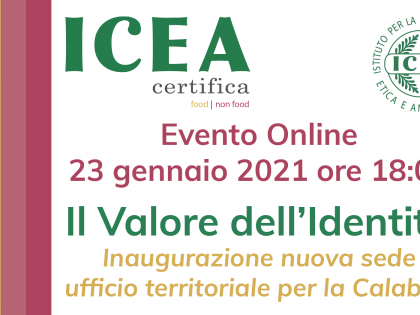 ICEA Calabria office inauguration – On-line event and dedicated video